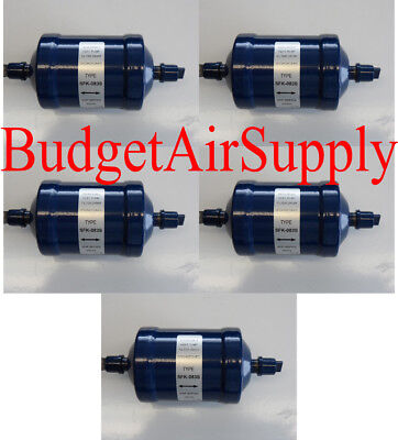 LOT of 5 each BiFlow filter drier Heat pump BFK SFK 083s 3/8 SAE Liquid Line