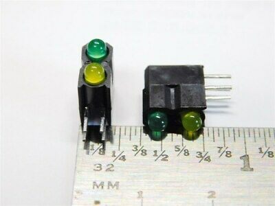 10 IDC Industrial Devices Inc 5680F5;7 R/A T-1 Stacked 2 High Green Yellow LEDs