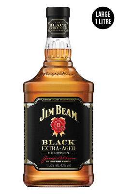 Jim Beam Black Label Bourbon Whiskey 1 Litre
