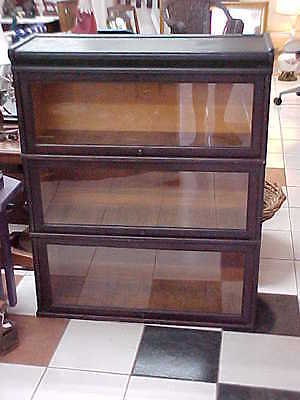 Antique Macey Mahogany Barrister Stacking Bookcase