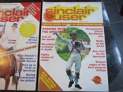 GROUP 5 AUTHENTIC SINCLAIR USER MAGAZINES 1983 No. 17-21