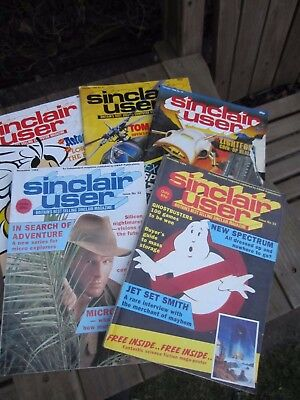 Group 5 Authentic Sinclair User Magazines 1984 & 1986
