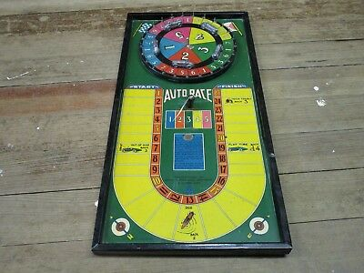 Old Antique Race Car Board Game Gotham  No 150 Spinner 1920s? Neat