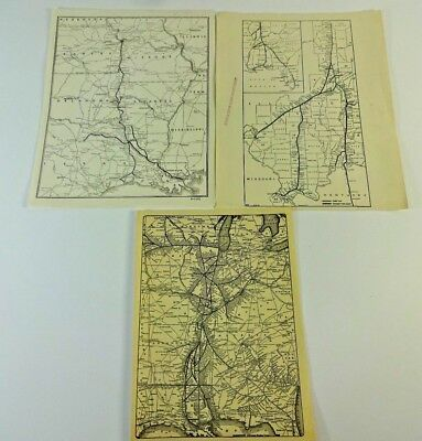VTG - CHICAGO & Eastern Illinois Railroad Company + Other - Route Connect Maps