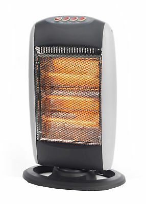 PROlectrix HALOGEN Tube Electric HEATER 1200w 3 Heat Wide Oscillating Functions