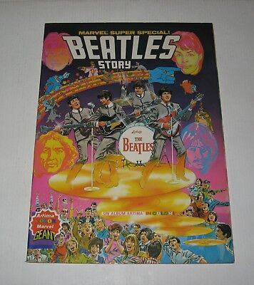 The Beatles Story,stan Lee,eo 1979 Tbe,marvel Super Special,fab Four,liverpool