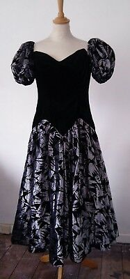 vintage dress - puff sleeves, velvet