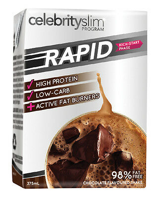 Celebrity Slim Rapid Chocolate Shakes 12 x 375ml