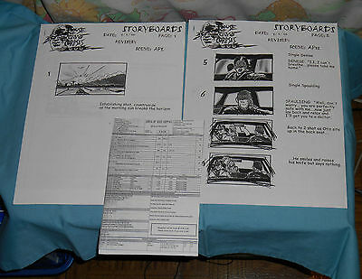 original HOUSE OF 1000 CORPSES STORYBOARDS & CALL SHEET Rob Zombie