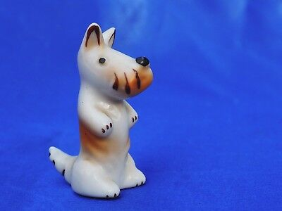 Walter Bosse Thuringia GErmany Scottish terrier porcelain Schnauzer sits up  *