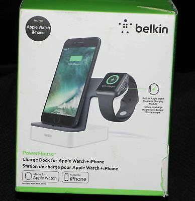 Belkin PowerHouse Charge Dock for Apple Watch and iPhone F8J200TTWHT Brand New
