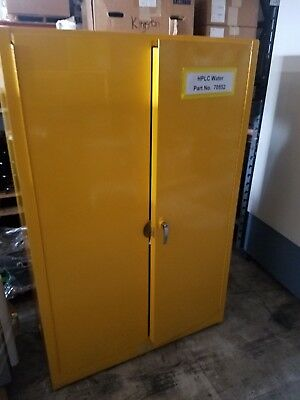 Justrite Yellow Flammable Chemical Steel Safety Cabinet 90 Gallon Capacity