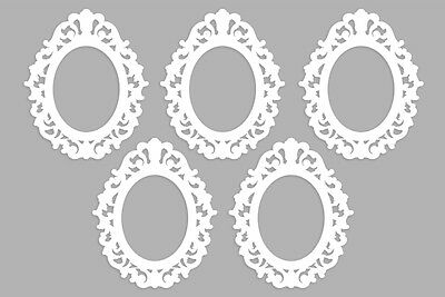 Victorian-Style Frames ~ Ornate Scrapbook White Frame Cut Outs ~ Set of 10
