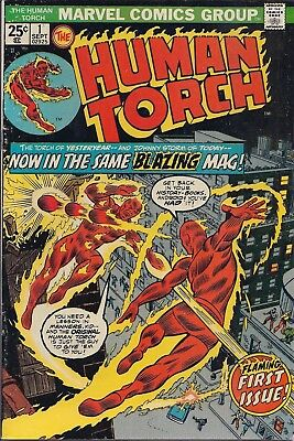 Marvel Comics - The Human Torch - Flaming First Issue - Sept 1974 - No. 1