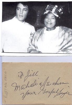 Mahalia Jackson Vintage In Person Hand Signed/inscribed With Title/picture