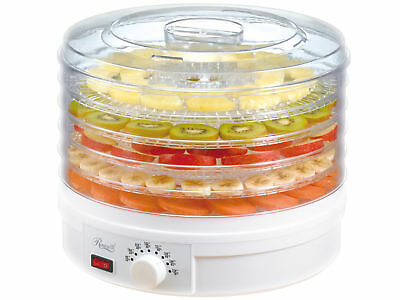 5-Tray Food Dehydrator Machine Adjustable Portable Countertop Fruit Drying