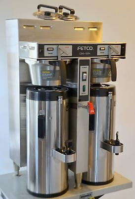 2016 Fetco CBS-52H15 Twin Dual 1.5-Gallon Thermal Coffee Brewer LUXUS Dispensers