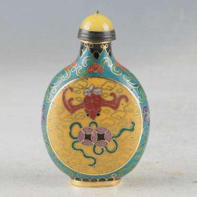 China Cloisonne Handwork Carved Decorative Pattern Snuff Bottle DY643