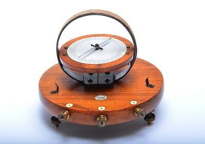 Antique Galvanometer / by Philip Harris & Co Ltd Birmingham Mahogany and Brass