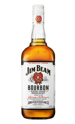 Jim Beam White Label Bourbon Whiskey 1 Litre