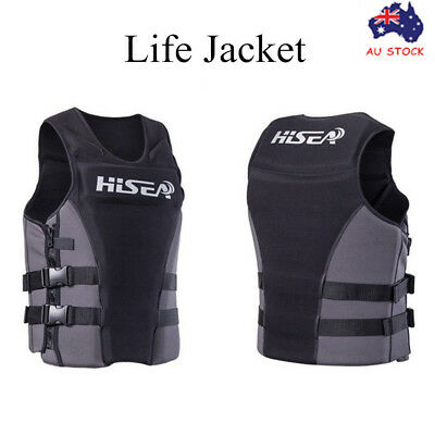 Adult Kid Professional Navigator Life Jacket Boat Jet Ski Swimming Surf Vest PFD