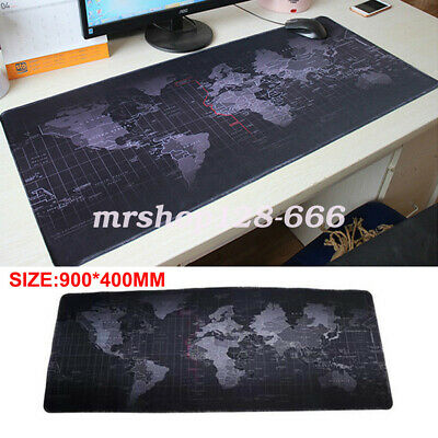 World Map Mouse Pad Extending Gaming Mat For Laptop Computer 400