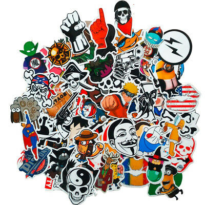 100 pc Skateboard Sticker Brand NEW Stickers Graffiti Laptop Luggage Car Decals