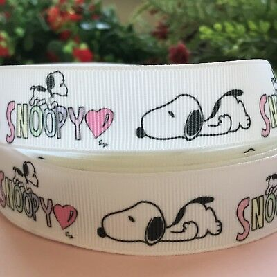 1 METRE CROSSGRAIN RIBBON / SNOOPY Craft Cake Decorations Gift Wrapping