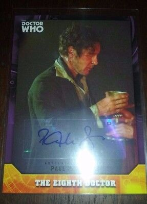 Topps Doctor Who 2017 Signature Series Purple Parallel Doctor auto Paul Mcgann
