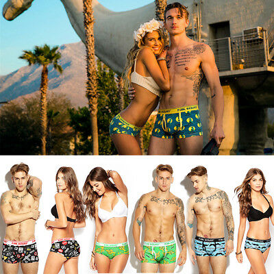 Couple underwear Men Cotton Briefs Boxer shorts Women's Bikinin Underpants P04