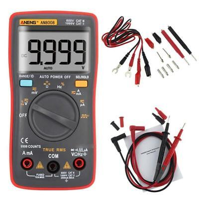 AN8008 True-RMS Digital Multimeter 9999 Counts Square Wave DC Volt Am 550V TS