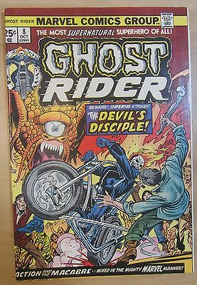 Ghost Rider #8 (Oct 1974, Marvel) FN/VF 7.0 details...FREE SHIPPING!!!
