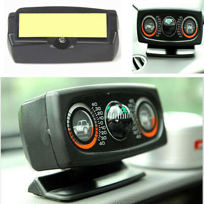 Auto Car Dashboard 3 IN 1 Compass Inclinometer Balancer Angle Level Meter Gauge