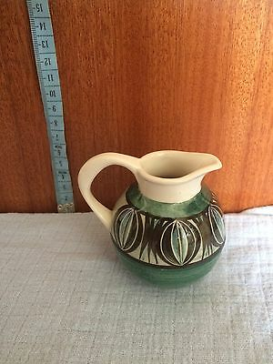 Green And White Jersey Pottery Jug
