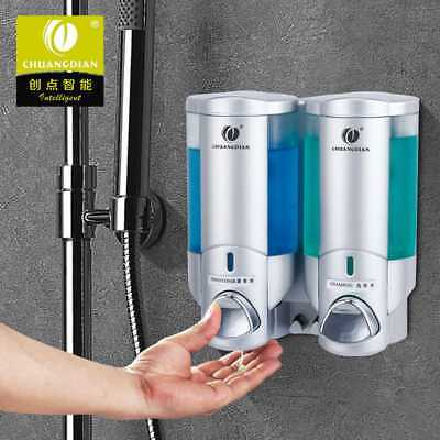 200ml Bathroom Shower Wall Mount Pump Lotion Liquid Soap Dispenser Shampoo Box