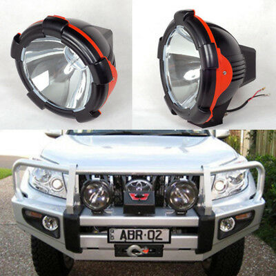 "Pair 55W 7"" HID XENON Driving Lights OFF ROAD Lamp Spot/Flood Beam SUV Working"