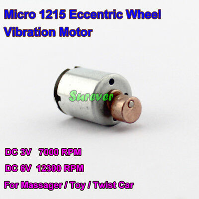 DC 3V-6V 12300RPM Micro Mini 12mm Vibrating Vibration DC Motor DIY Toy Massager