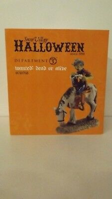 Dept 56 Snow Village Halloween Wanted: Dead or Alive 4030768 New MIB