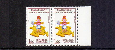 FRANCE 1982 CENSUS MNH GREEN 7 OMITTED SG2523a, YV 2202a