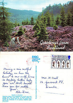 1990's GREETINGS FROM SCOTLAND COLOUR POSTCARD