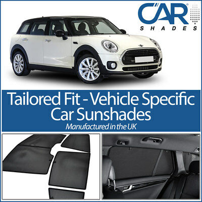 Mini Clubman 2014 On UV CAR SHADES WINDOW SUN BLINDS PRIVACY GLASS TINT BLACK