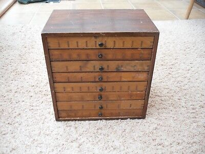 Vintage Printers  8 Drawer  Chest