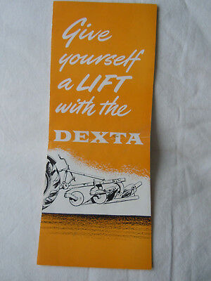 """@Vintage Fordson Dexta Tractor Leaflet """"Give yourself a lift with the Dexta""""@"""