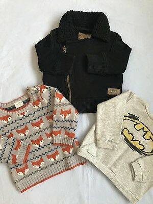 Baby Boys 6-9 Months Coat And Jumper Outfit Bundle Next Miniclub