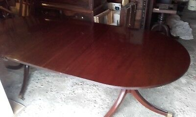 Mahogany Twin Pedestal Georgian Style Reproduction Extending Dining Table