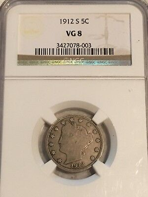 1912-S 5C Liberty Nickel