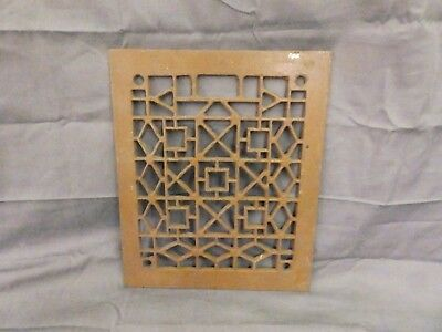 Antique Cast Iron Grill Grate Wall Ceiling Mosaic Vent Old Vtg 11x10 560-17P