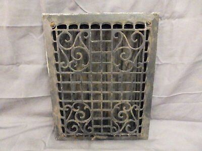 Antique Cast Iron Wall Ceiling Heat Grate Register Vent Old Vtg 13x11 562-17P