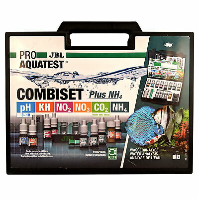JBL CombiSet Test Kit For Freshwater Aquarium- pH, KH, CO2, NO2, NO3 + NH4, NH3