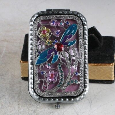 Exquisite Chinese Cloisonne Handmade Butterfly&Flowers Mirror JZ2015